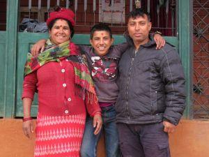 Familia de acogida en Panchamul, Nepal