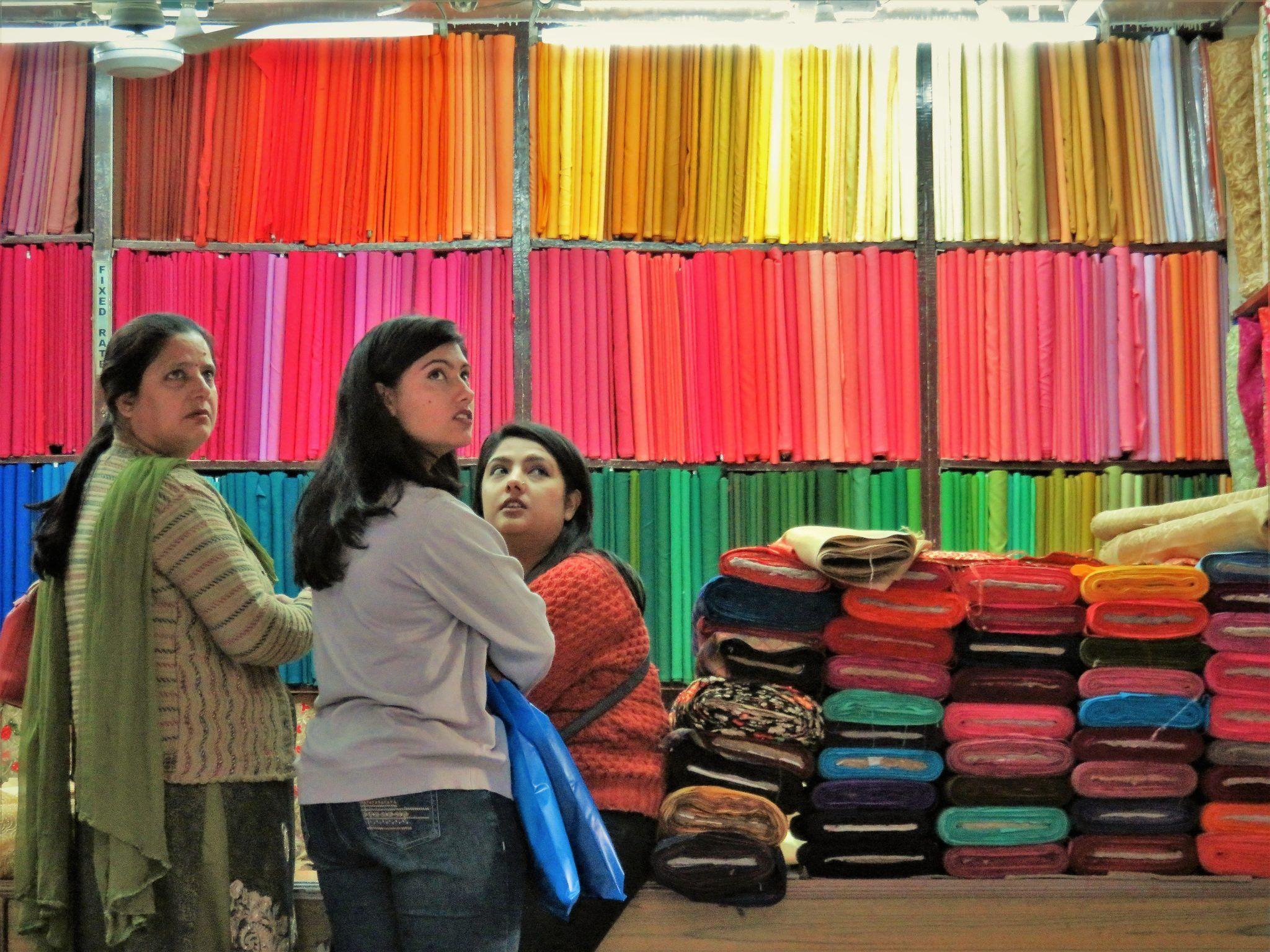 Comercio de telas, Katmandú, Nepal