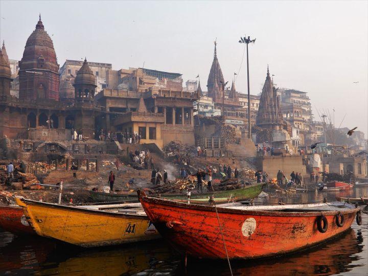 Manikarnika Ghat, Benarés, Varanasi, India