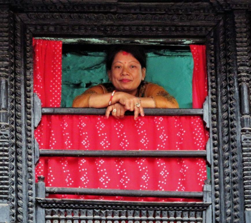 Detalle del Palacio de Kumari, Katmandú, Nepal