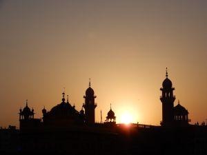 Atardecer, Templo Dorado Amritsar Golden Temple, Punjab, India