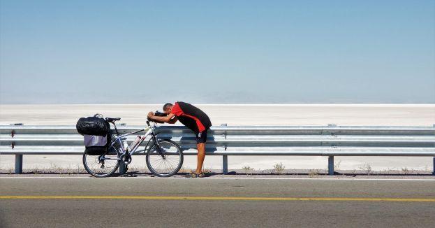 Bicicletas del mundo, lago Urmia, Irán