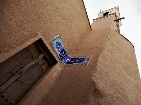 Plano nadir de torre de viento, Kashan, Iran