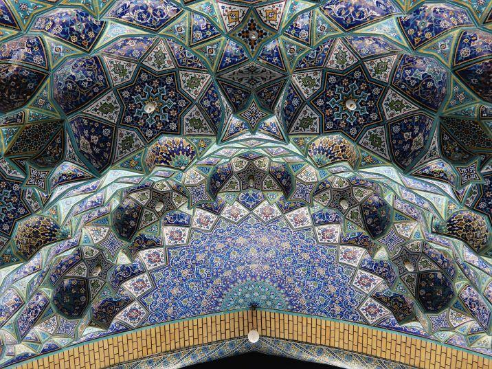 Diseños geométricos, mezquita Jankaran Mosque, Iran