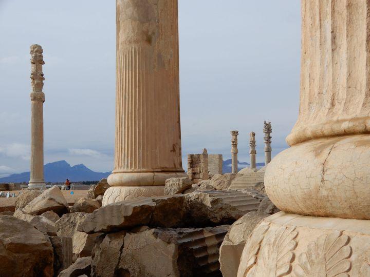 Columnas en Persépolis, Iran