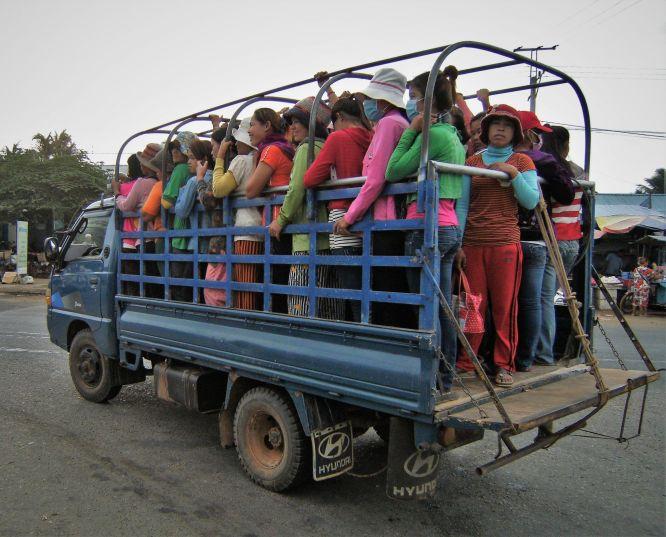 Transporte público, Camboya