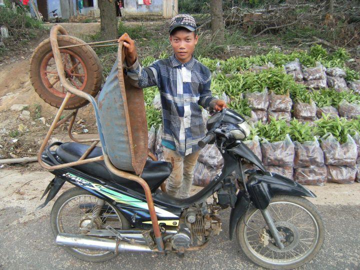 Carretillo sobre moto