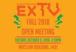 ExTV Fall Open Meeting!