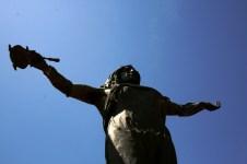Detalhe da Estátua de Yemanjá, Playa Ramírez, Montevideo, Uruguay, 27/11/2011