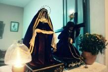 Janela decorada na Procissão do Senhor dos Passos, noite de 15 de março de 2014. São Cristóvão-SE