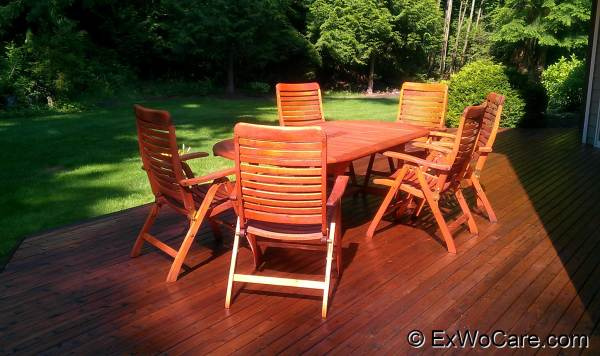 Teak Furniture Sealed Natural Cedar Tone
