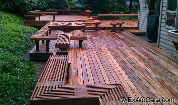 Large Custom Made Cedar Deck Project
