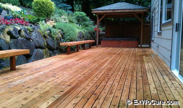 deck cleaned and prepaired