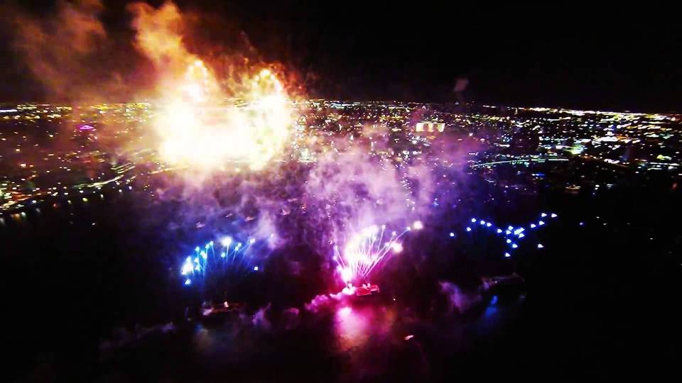 EXXO TV – Fireworks from Drone view -The future of TV is HERE