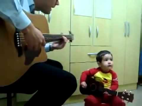 EXXO TV – The future of TV is HERE – 2 year old boy performs Beatles song with dad
