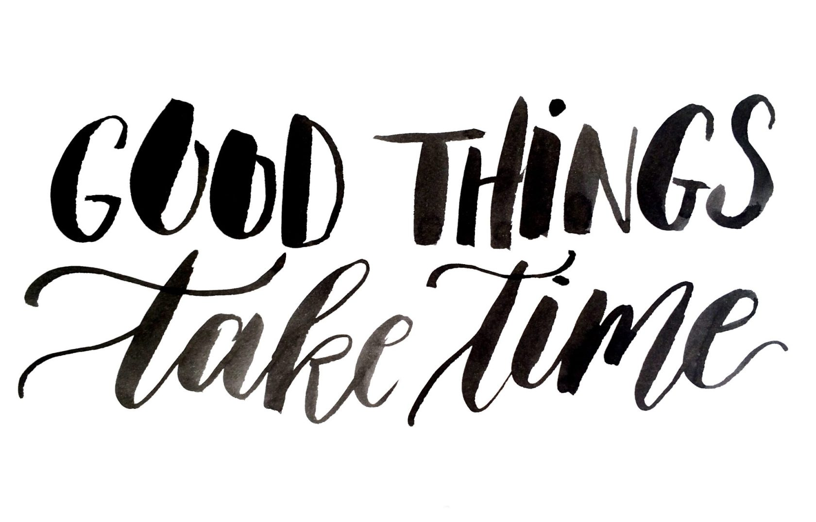 Exxpose | Good things take time | Door de Kijkkalligraaf