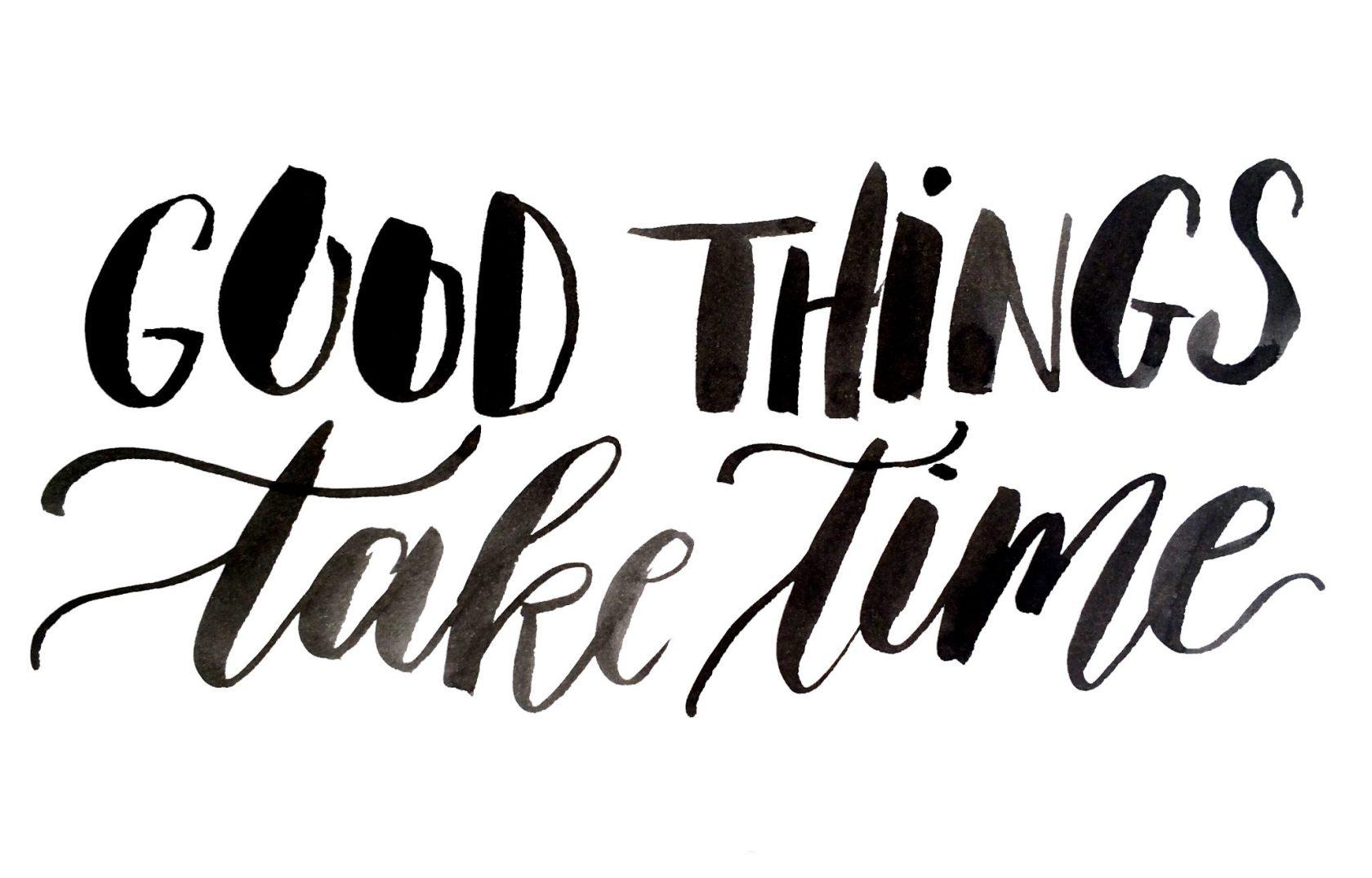 Exxpose | Good things take time | Door de Kijkkalligraaf