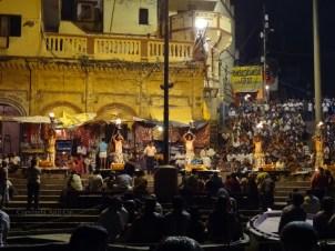 Ganga Arati in progress