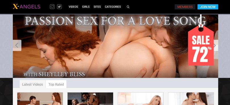 Screenshot x-angels.com