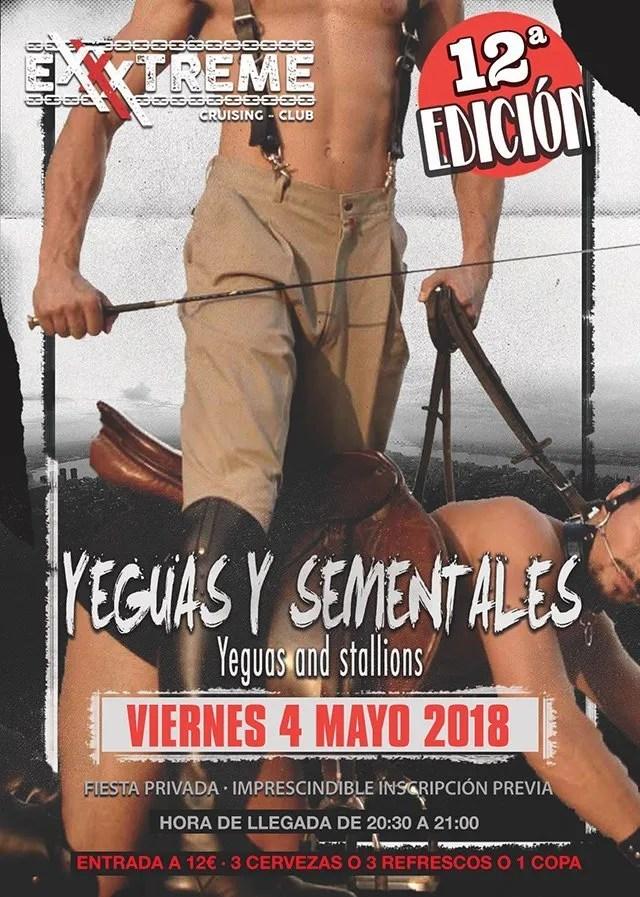 Nueva edición de Yeguas y Sementales en EXXXTREME CLUB el 4 de mayo