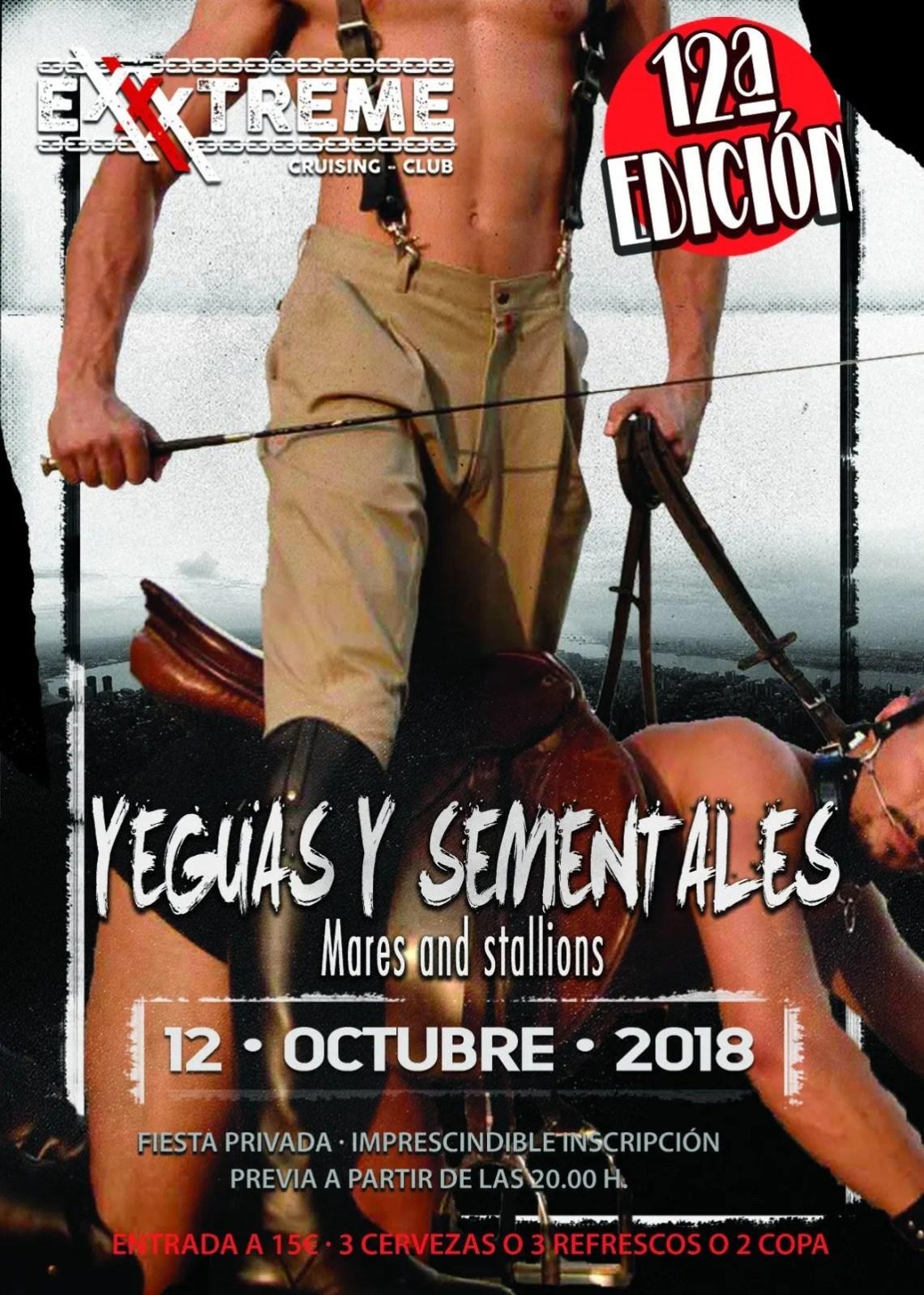 YEGUAS Y SEMENTALES el 12 de octubre en EXXXTREME