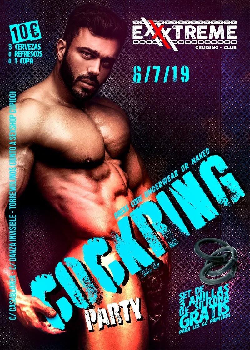 COCKRING PARTY el sábado 7 de julio en EXXXTREME