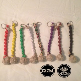 EXZM SpiralBraided Hemp MonkeyFistKeychains2 10 25 2019