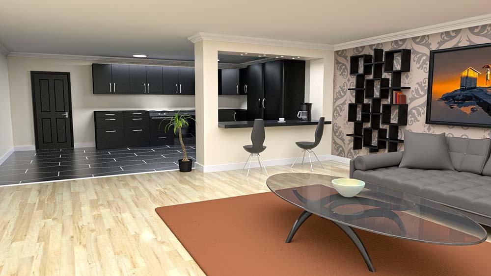 Modern zwarte keuken