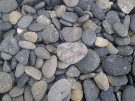 I was told that it is illegal to take any rocks from this beach.