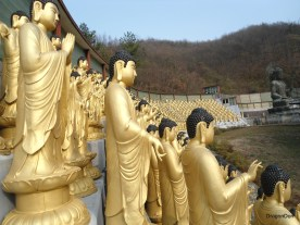 Seongaksa Temple, Gongju. Has 1000 Buddha statues. These is just a small sampling.