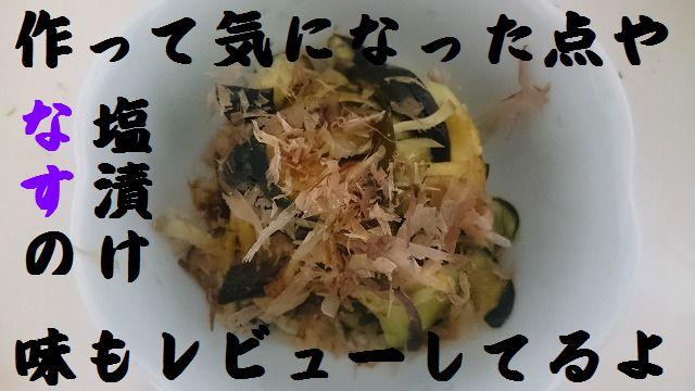 なすの塩漬けの作り方、奥薗壽子さんのずぼらレシピ