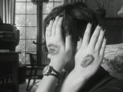 Eye tattoo side