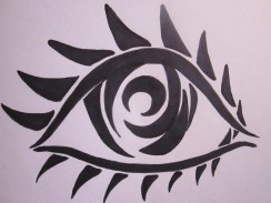 I thought this would be cool as a tattoo because it just uses black ink and its made of pretty simple shapes.