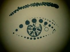 An eye made of dots