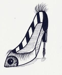 """I really like how my """"eye shoe"""" turned out!"""
