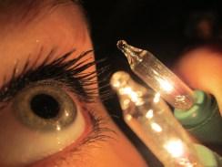 Christmas lights and my eye!
