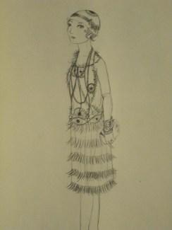 A flapper girl with a eye motif!