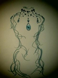 Day 201 1/28/14 Eye Necklace On A Strange Mannequin
