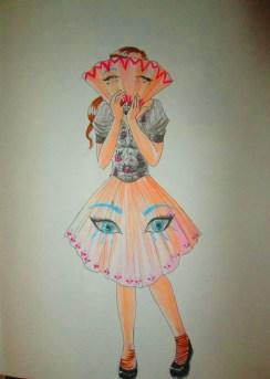 Day 212 2/8/14 Fan Skirt