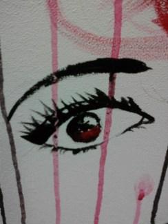 Day 299 5/6/14 Red Ceiling Tile Eye