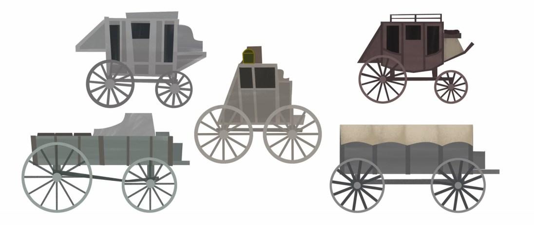Lone Ranger Playset carriage shape exploration