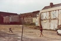 A l'emplacement de la maison des Grands-Parents à Locminé.