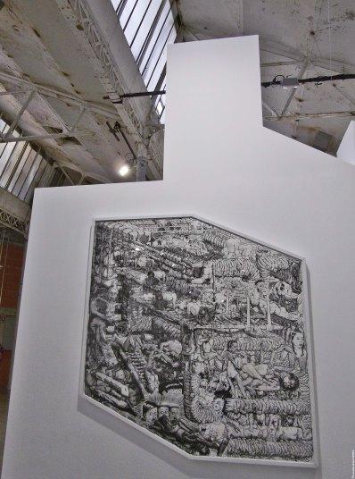La grande essoreuse, 2008 - encre de chine sur papier - Coll. Lebois-Albertini, France - (C) - Au Village Jérôme Zonder - Le Lieu Unique à Nantes - 11 avril 2014