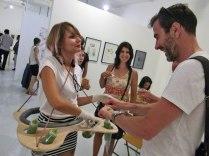 15. « Take away », une performance culinaire proposée par le collectif Manuel, avec les Micheline et Joseph Meidan lors du vernissage et du salon à partir de 11h. / © Laure JEGAT 2014