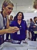 9. Martine Robin et Michle Sylvander en pleine communication... / Galerie Analix Forever /Genève – Suisse : Pascal Berthoud et Julien Serve (Rue de Hesse, 2 CH - 1204 Genève, Suisse T: +41 22 329 17 09 analix@forever-beauty.com www.analix-forever.com) / © Laure JEGAT 2014