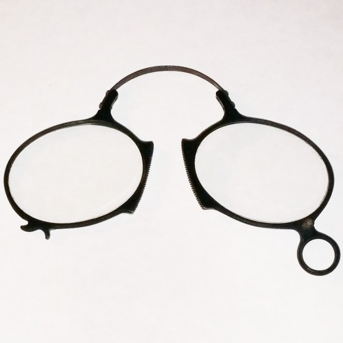 Ebonite pince-nez eye glasses around 1860