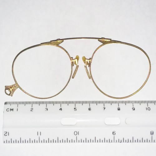Gold plated filigree pince-nez by American Optical