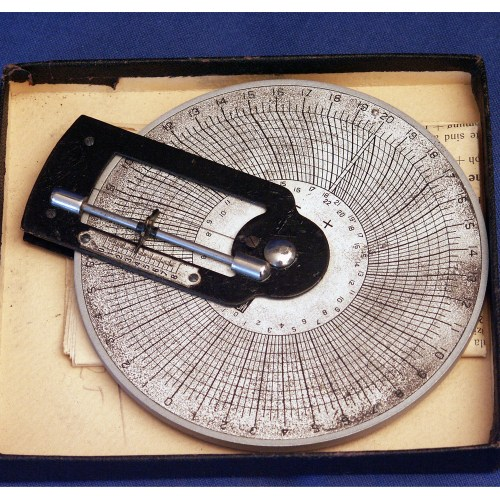 Slide rule to calculate back vertex power of a lens