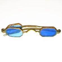 octagonal blue double lens spectacles 1830
