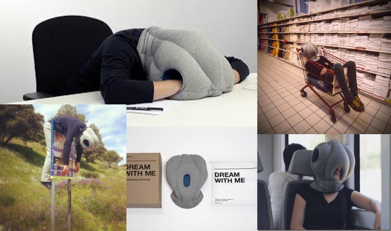 take away napping pillow eyeball menu
